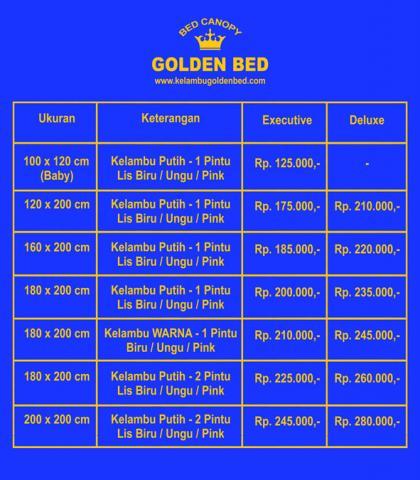 Foto: Harga Kelambu Golden Bed 2015