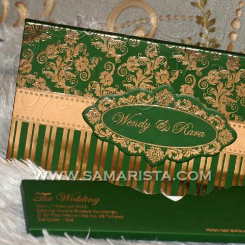 Foto: Kartu Undangan Pernikahan Hardcover Hijau Cantik Murah