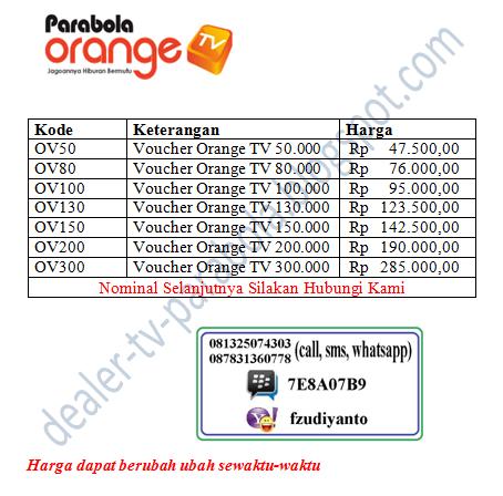 Foto: Jual Voucher Orange Tv