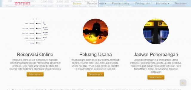 Foto: Cari Tiket Pesawat Promo Murah Bisnis Online Tour Travel