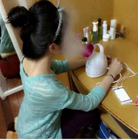 Foto: Pobling Facial Ionic Steamer Uap Wajah Membersihkan