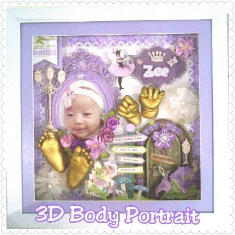 Foto: Cetak Replika Tangan Kaki Bayi