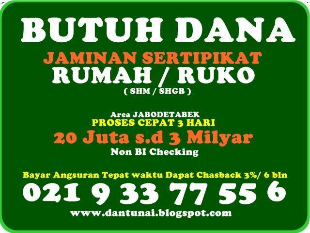 Foto: Pinjaman Dana Tunai Jaminan Sertipikat Rumah / Ruko