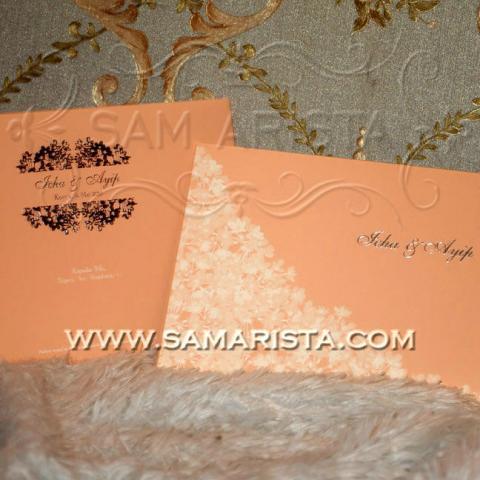Foto: Kartu Undangan Orange Cantik Harga Murah