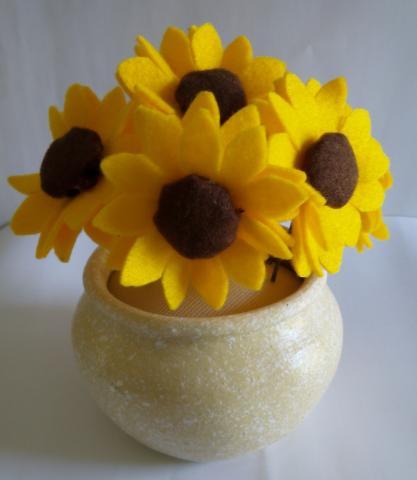 Foto: Bunga Matahari Flanel