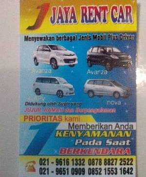 Foto: Jaya Rent Car Sewa Mobil Jakarta & Tangerang – Citra Raya