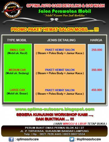 "Foto: Promo Paket Hemat Salon Mobil ""optima"" Bandar Lampung"