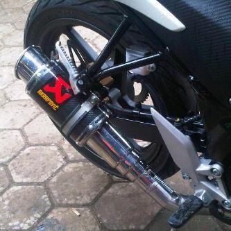 Foto: Knalpot Ninja 250 Fi Full System