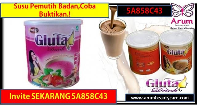 Foto: Gluta Drink Di Malang, Susu Pemutih Badan