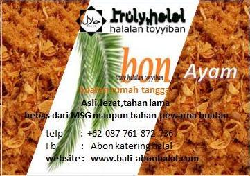 Foto: Abon Halal Di Bali Dan Halalan Toyyiban