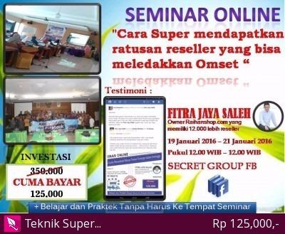 Foto: Seminar Online Dgn Pengusaha Nasional