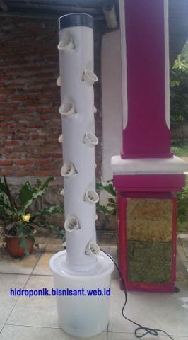 Foto: Jual Paket Hidroponik Vertical Tower. Paling Cantik Dan Menarik