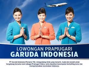 Foto: Di Butuhkan Pramugari PT. Garuda Indonesia