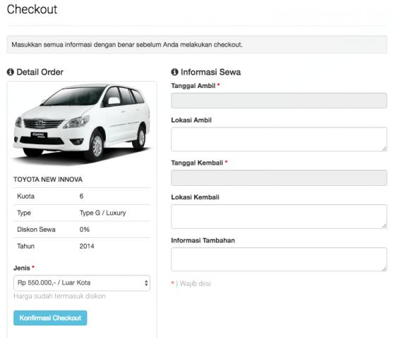 Foto: Jual Script Website Rental Mobil