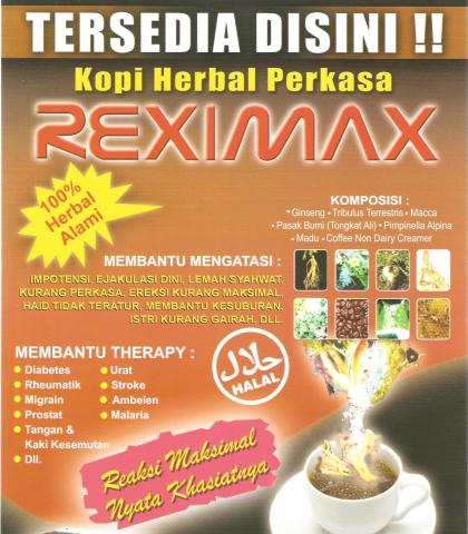Foto: Kopi Kuat Herbal Reximax