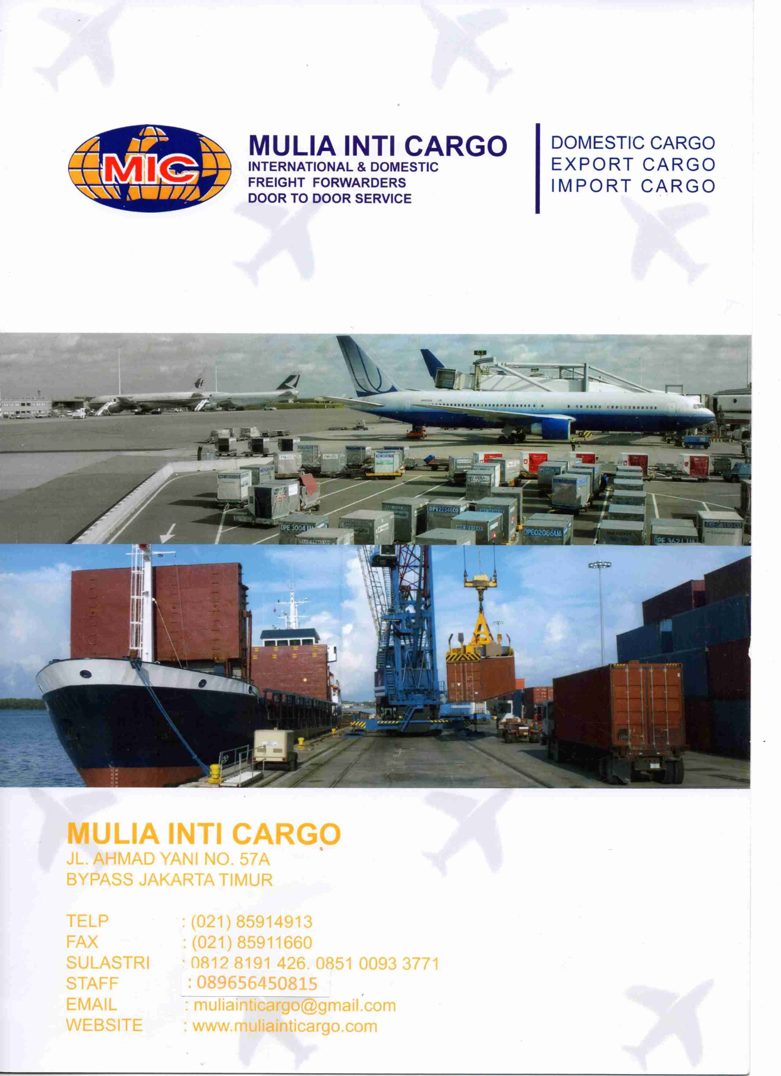 Foto: Jasa Kargo International Import & Domestik Kargo Keseluruh Indonesia