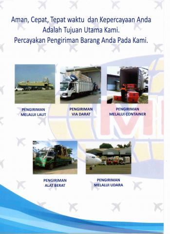 Foto: Jasa International Kargo Import & Domestik keseluruh Indonesia