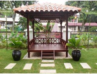 Foto: Jasa Spesialis Saung Lesehan, Gazebo, Vila, Pendopo, Rumah Bambu dan Kayu, Furniture Bambu