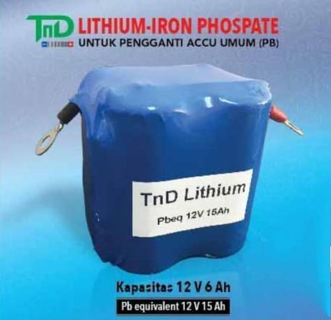 Foto: Accu Aki Motor Lithium Iron Phospate