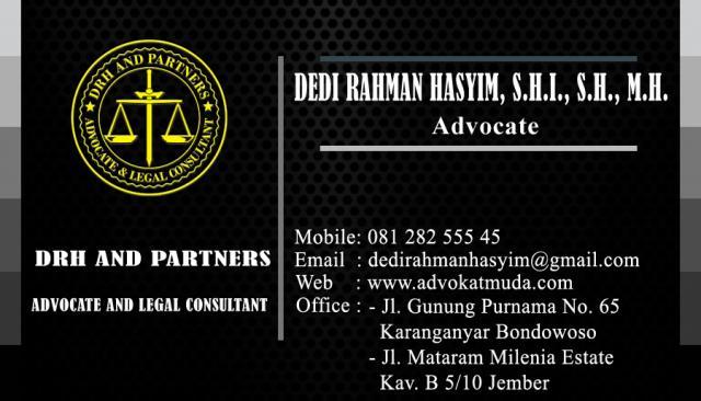 Foto: Dedi Rahman Hasyim, S.h., M.h dan Rekan Kantor Hukum Pengacara Bondowoso