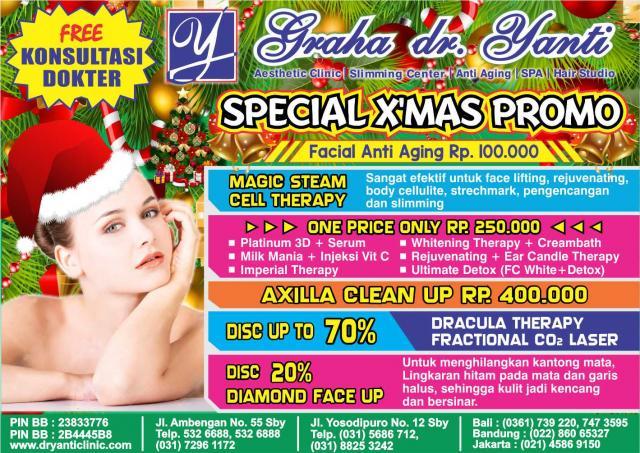 Foto: Promo Special X' Mas Dr Yanti Aesthetic Clinic Jakarta