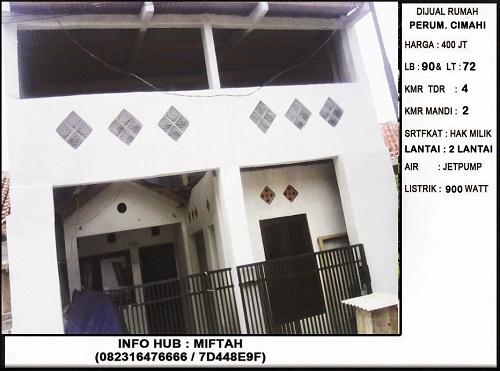 Foto: Dijual Rumah Murah 2 Lantai 400 Juta Cimahi Bandung