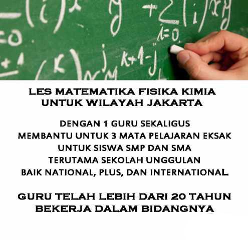 Foto: Les Privat Matematika Kimia Fisika Jakarta