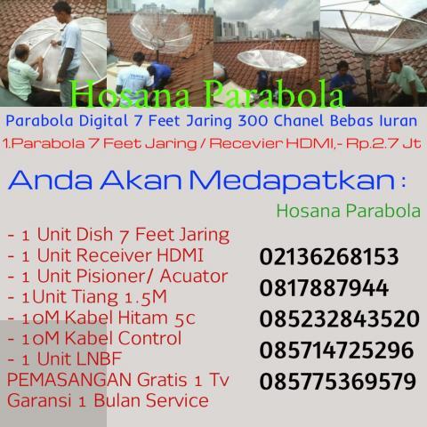 Foto: Jasa Online Teknisi Ahli Pasang Parabola – Antena Tv Jakarta