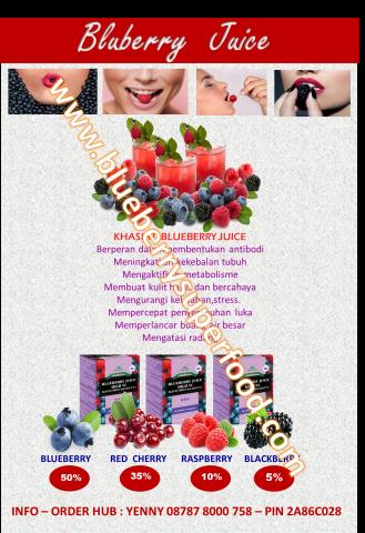 Foto: Blueberry Juice Anti Oxidant Tinggi